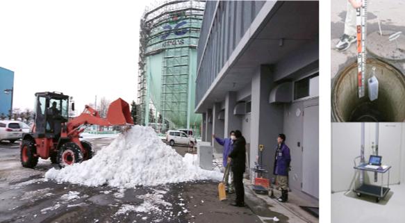 雪の中とマンホールの通信実験