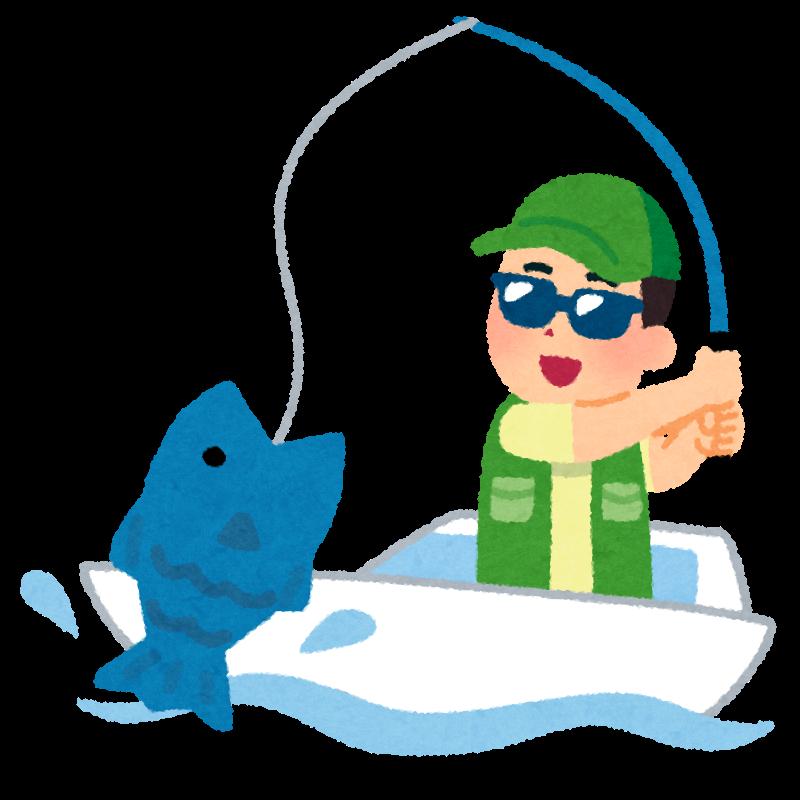 魚を釣る人